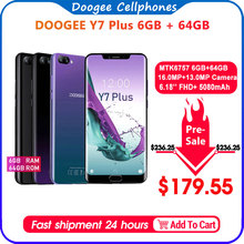 DOOGEE Y7 Plus CellPhone 6.18inch 1080*2246 Screen MTK6757 O