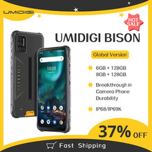 Umidigi bison 6gb/8gb + 128gb nfc ip68/ip69k telefone áspero impermeável 48mp quad camera 6.3