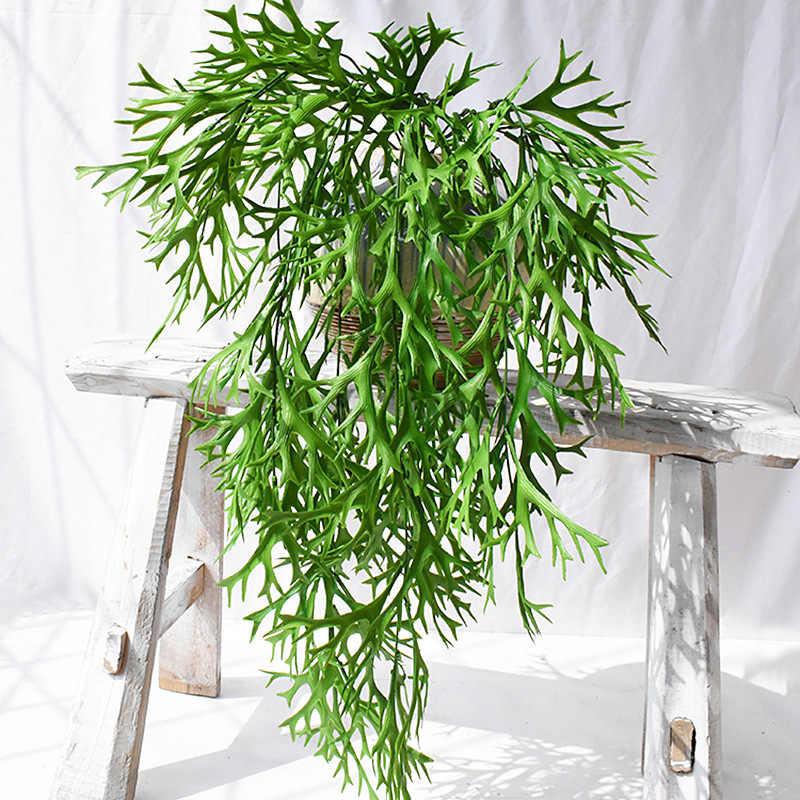 Plantes artificielles tortue feuille rotin pin aiguille cintre vert feuilles maison mariage jardin décoratif fausse vigne