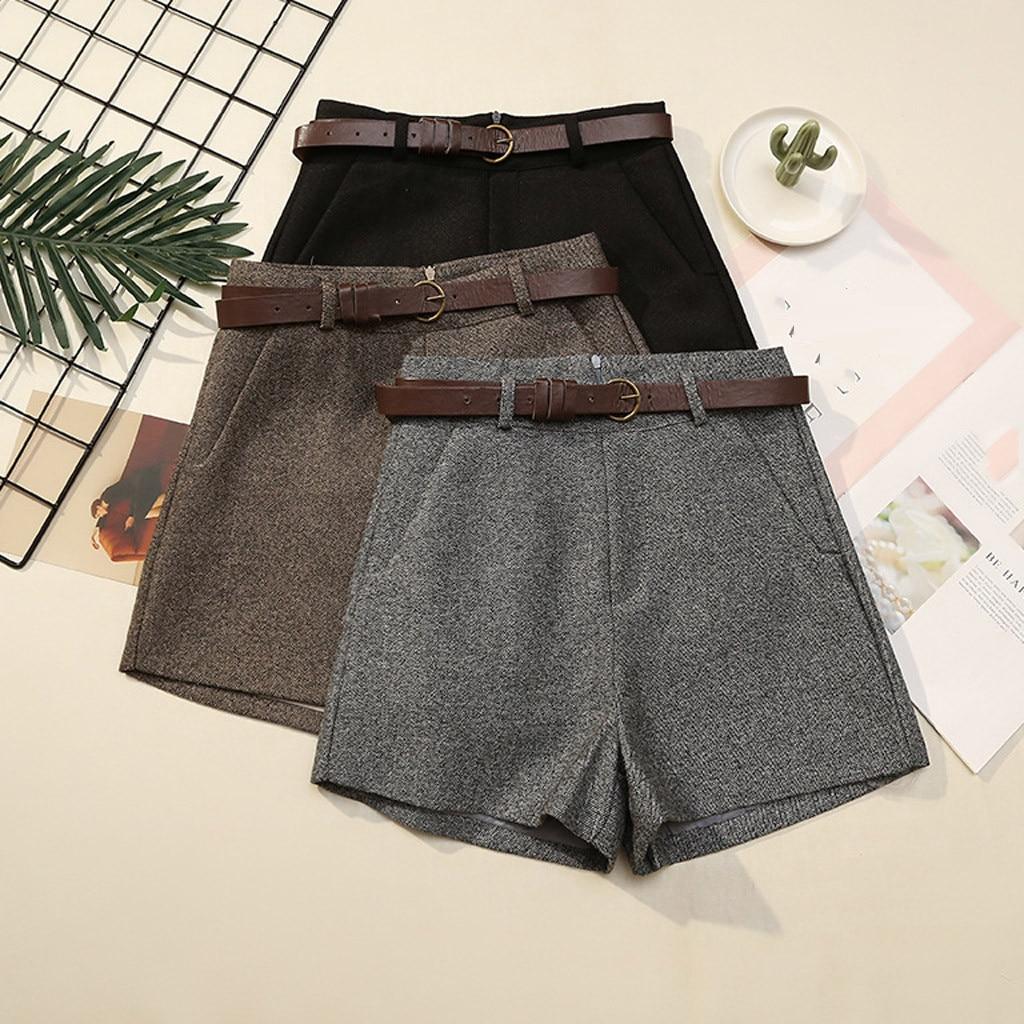 Vintage Shorts Women Cargo Shorts Women Lace Up Summer Women High Waist Solid Casual Waist Shorts Ladies High Quality G4