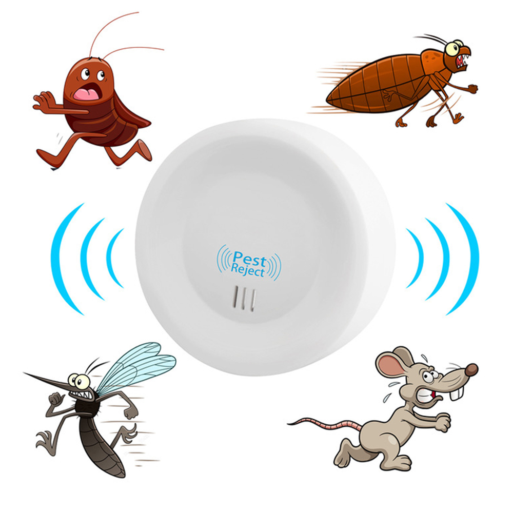 2020 Ultrasonic Electronic Repeller Mice Bugs Home Insect Repellent Killer With LED Light Home Insect Repellent Killer New