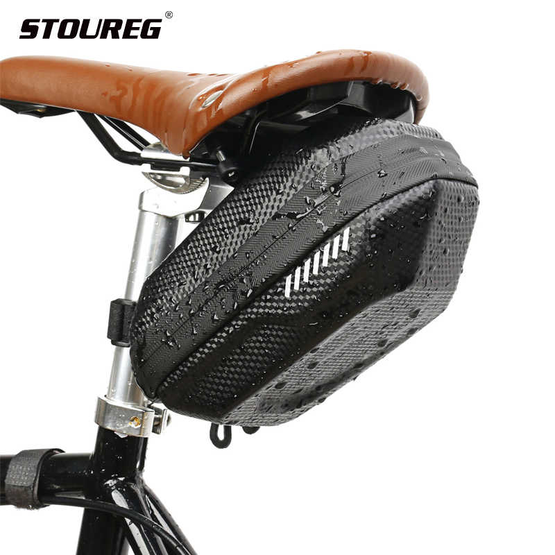 Cycling Saddle Bag Bike Bicycle Fixing Hard Shell Under Seat Tail Saddle Pouch