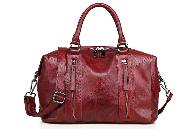 MJ Women Tote Handbag Genuine Leather Female Soft Real Cow Leather Shoulder Bags Solid Large Capacity Ladies Crossbody Bag (15)
