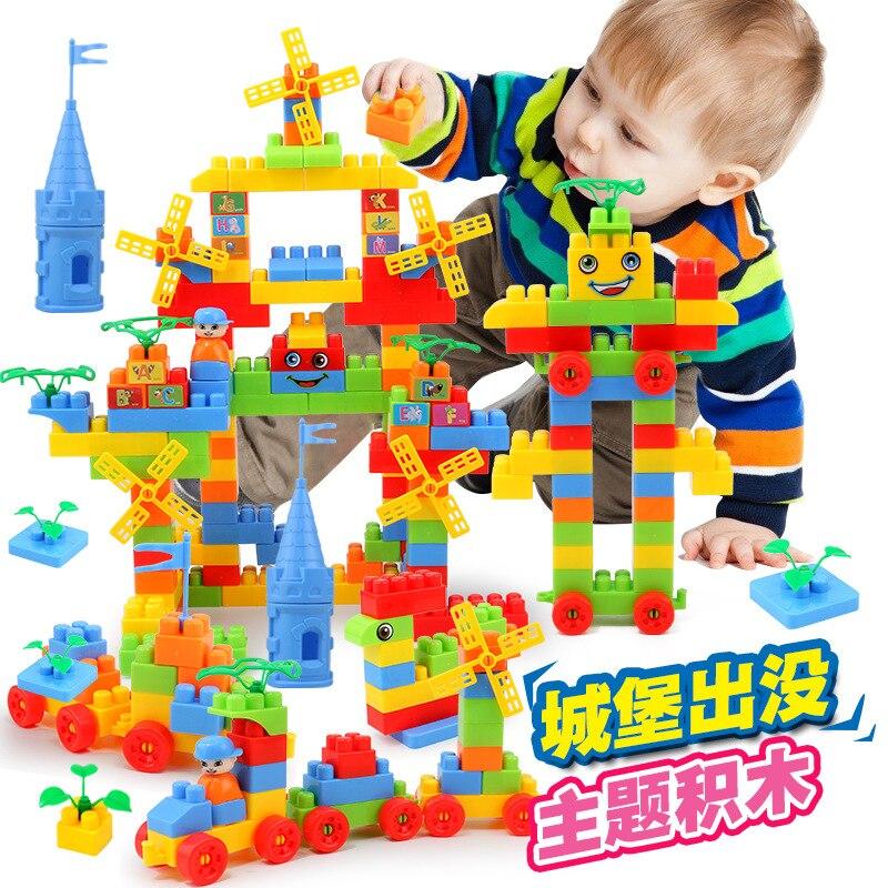 Niños ENLIGHTEN juguetes infantiles educativos temprano en gránulos Castillo bloques de construcción bebé 3-456 al año de edad 220 ensamblar bloques