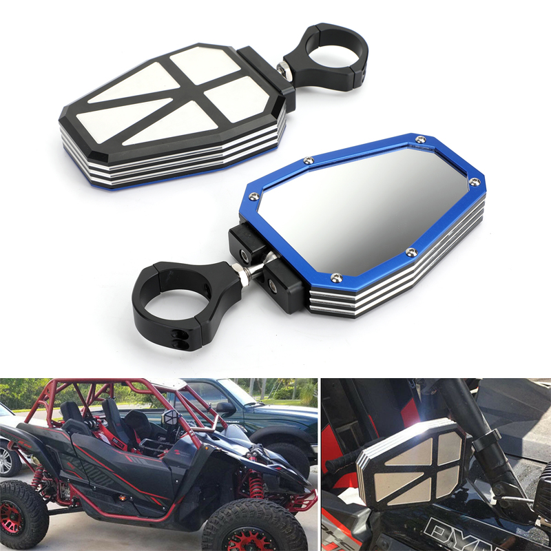 Areyourshop For Yamaha Rhinos 450 660 700 YXZ1000R For Kawasaki 3000 600 Series UTV Side Mirrors Rear View 1.75 Roll Bar