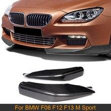 6 Series de fibra de carbono separadores de parachoques delantero delantal para BMW F06 F12 F13 M 2012 - 2016 lloguer de 650I no M6 divisores