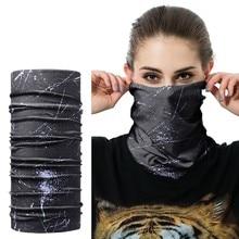 Máscara de ciclismo esportes ao ar livre lenço de cabeça mágica impressão bandana da bicicleta faixa de pulso para máscaras à prova vento protetor solar bicicleta