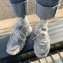 YRRFUOT Women Casual Shoes Flyknit Rubbe