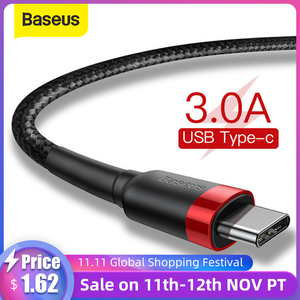 Baseus USB Type C Cable for Samsung S10 S9 Quick Charge 3.0 Cable USB C Fast Charging for Huawei P30 Xiaomi USB-C Charger Wire