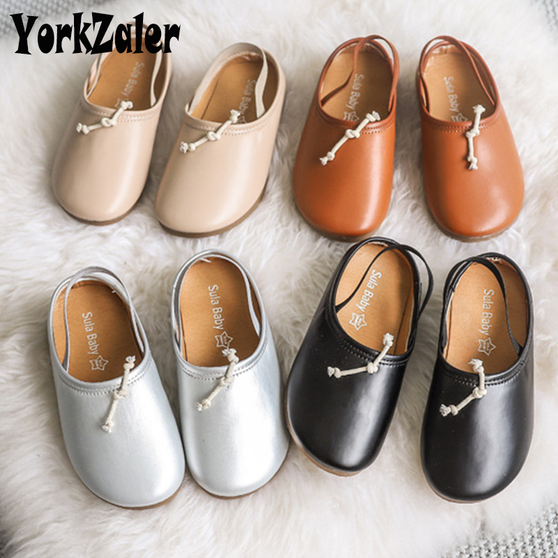 Yorkzaler Spring Autumn Casual Kids Shoes For Girls Bow Waterproof Children Shoes PU Leather Europen Baby Shoes Footwear 26-30