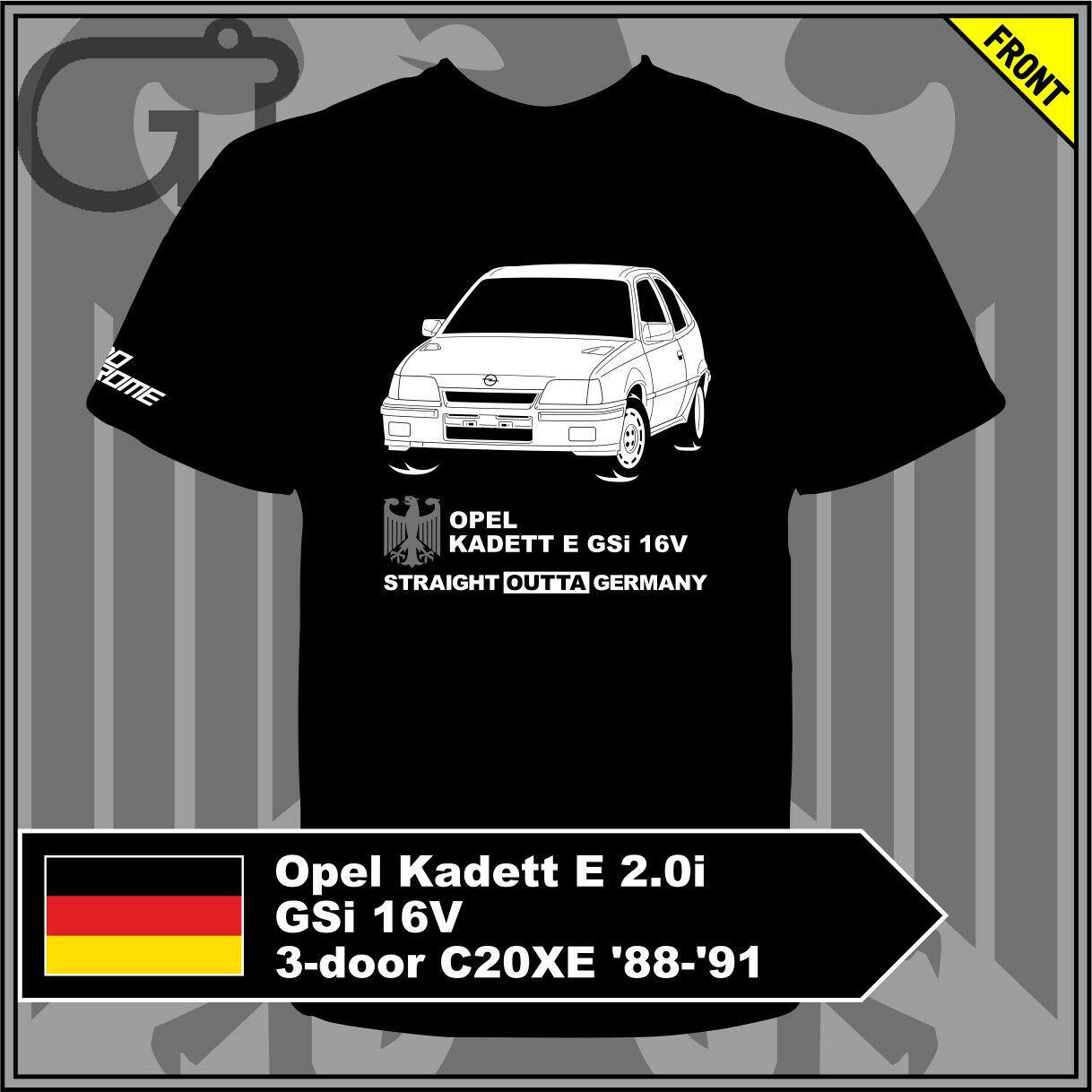 GT-shirt Opel Kadett E 2.0i GSi 16V 3-door C20XE '88-'91 Tshirt Tee