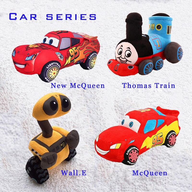 Cute cartoon car story series Thomas train Wally doll car truck children baby companion doll birthday holiday gift plush toy car