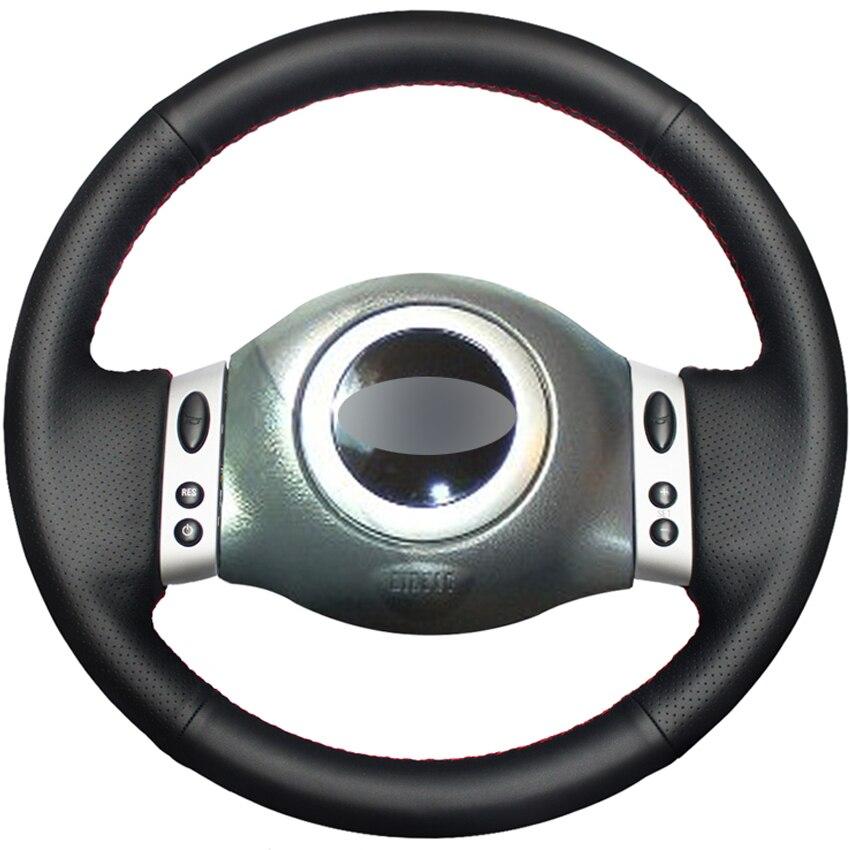 Черная искусственная кожа PU DIY Ручная строчка для мини-купе 2001-2006 Mini R50 R53 R60