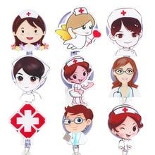 Badge-Holder Retractable Id-Card Nurse-Doctor