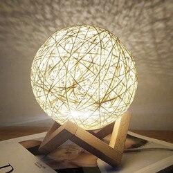 Хит продаж, детские ночные светильники, оригинальная Лунная лампа, Детский Светильник, звездное небо, 3D, чарующий Usb шар, для спальни, для дом...
