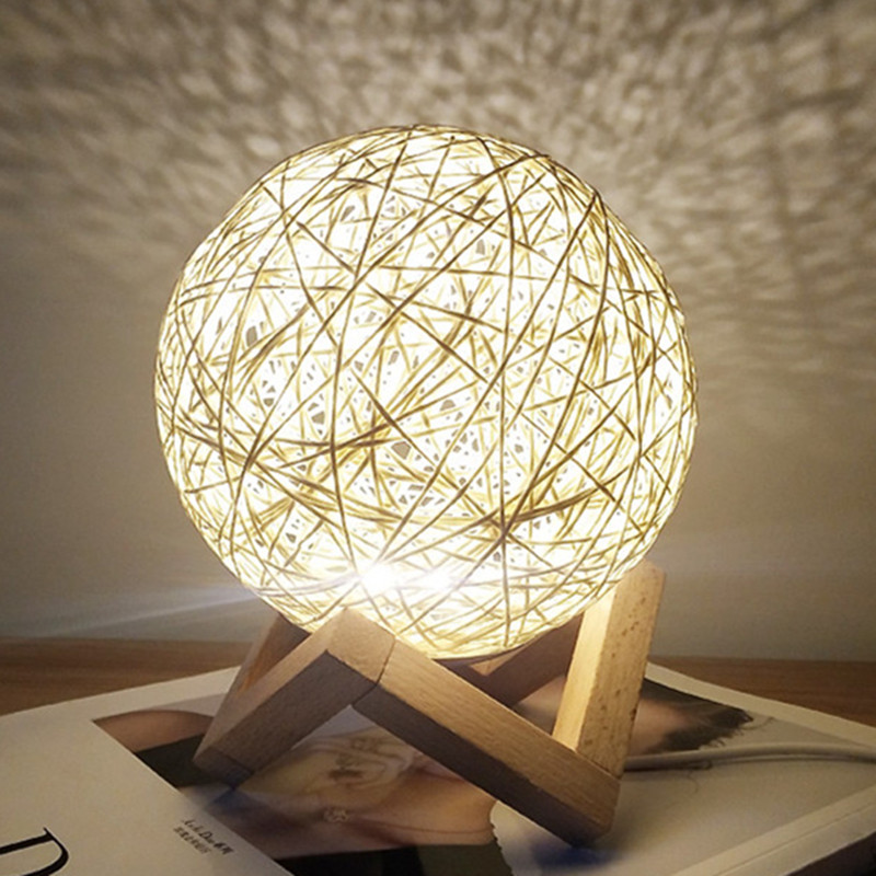 HOT-Kids Night Lights Original Moon Lamp ChildrenS Light Starry Sky 3D Enchanting Usb Ball For Bedroom Home Decorative