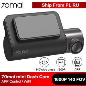 Image 1 - 70mai mini câmera inteligente para carro, wi fi, dvr, 1600p, hd, visão noturna, sensor g, app 140fov gravador de vídeo automático 70 mai dashcam