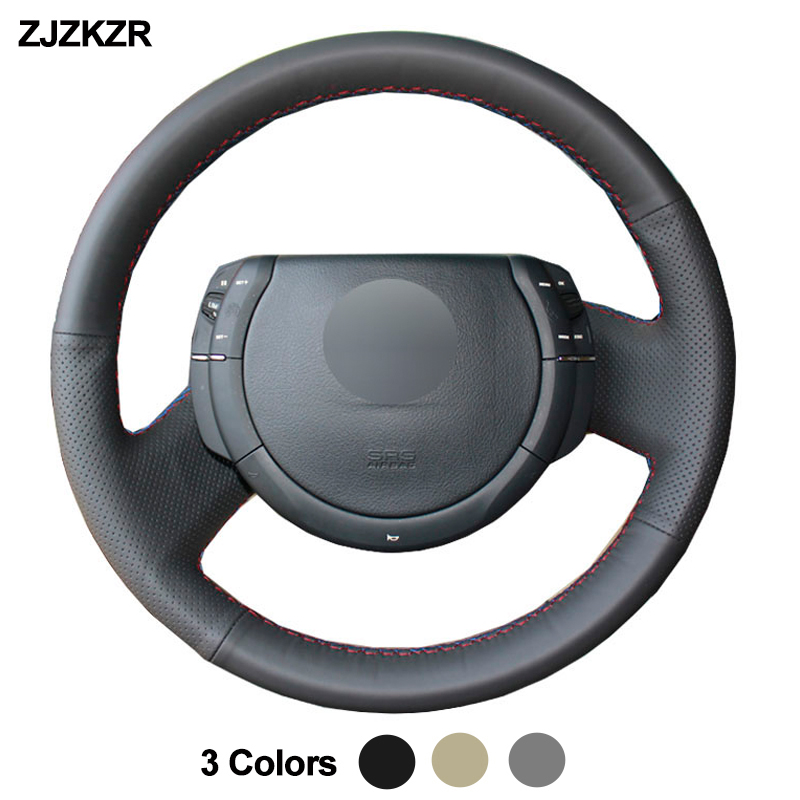 Car Auto Steering-Wheel Cover For Citroen Triumph <font><b>C4</b></font> 2005 <font><b>2006</b></font> 2007 2008 2009 2010 Stuurhoes Volant Braid on the Steering wheel image