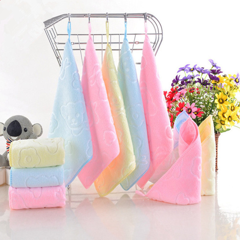 Baby Towel Fashion Superfine Fiber Kid Bath Towels Washcloth Square Towel Children Bathroom Wipe Wash Cloth Gift Towel