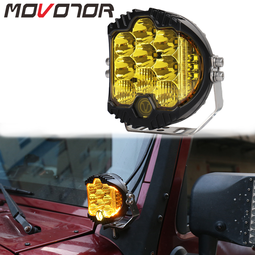 Yellow Color White DRL 12V 50W Led Fog Lamp For Universal Offroad Vehicles