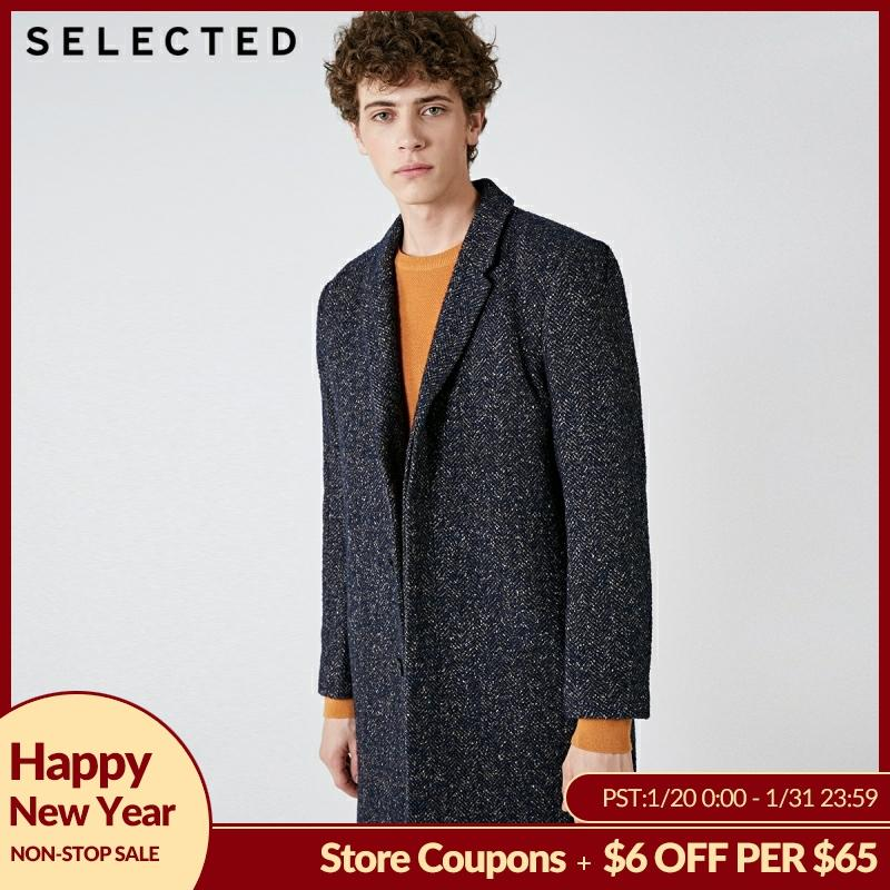 SELECTED New Winter Wool Coat Men's Business Casual Woolen Jacket S | 418427541