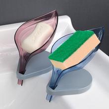 Protable akcesoria do łazienki gadżety łazienkowe kształt liścia mydelniczka mydelniczka Box łazienka uchwyt na mydło pod prysznic mydelniczka stojak na talerze tanie tanio CN (pochodzenie) Z tworzywa sztucznego as show leaves bathroom