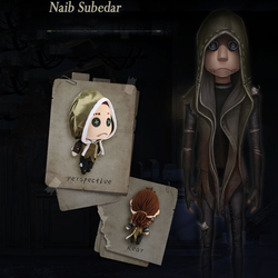 The Game Identity V Cute Cool Nabb Subedar DIY Mercenary Survivor Statue Cosplay Plush Doll Christmas Gift