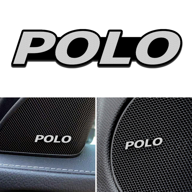 4 Uds excelente estilo de coche audio decorar para VW Polo Volkswagen Scirocco CC GOLF 7 Golf 6 MK6 coche Tiguan Accesorios
