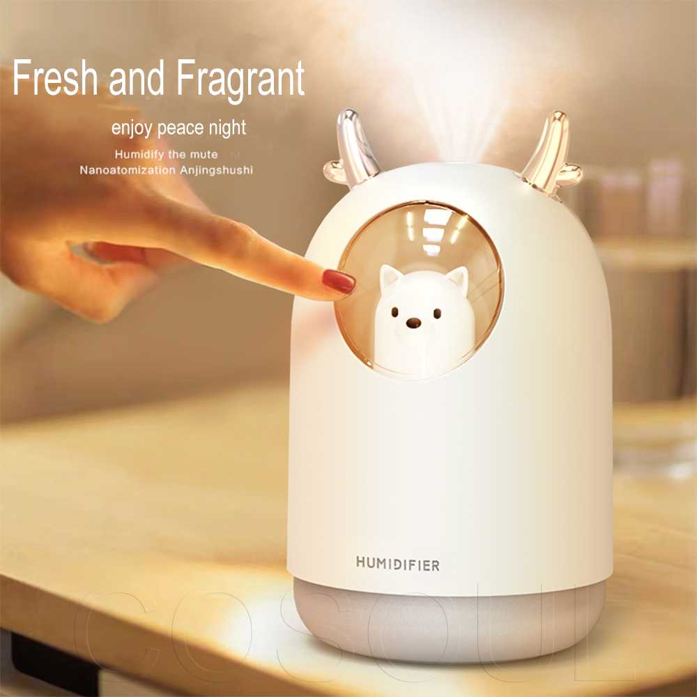Air Humidifier Essential Oil Diffuser Care For Skin Nano Spray Technology Fogger Mist Maker With LED Night Lamp Home Office