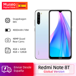 Versión Global Xiaomi Redmi Note 8T 8 T 4GB RAM 64GB ROM Snapdragon 665 Octa Core 6,3 48MP Quad Camera 4000mAh 18W QC NFC