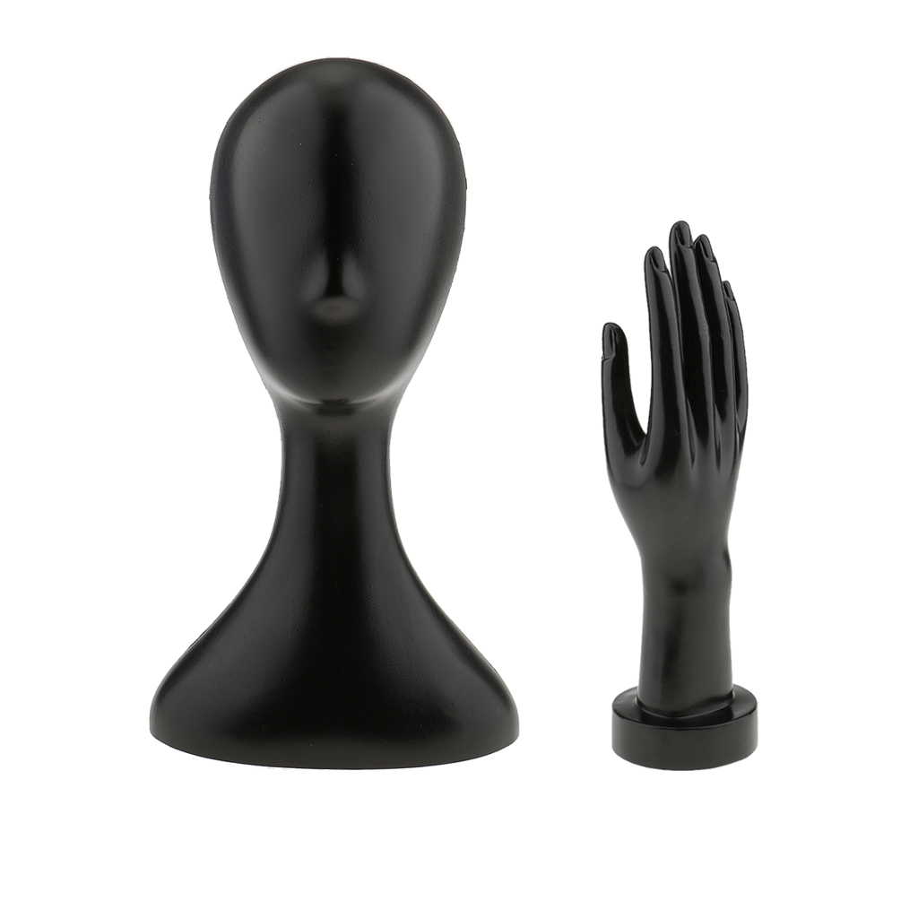 Set Of 2pcs Female Mannequin Manikin Head + Right Hand DISPLAY HOLDER MODEL
