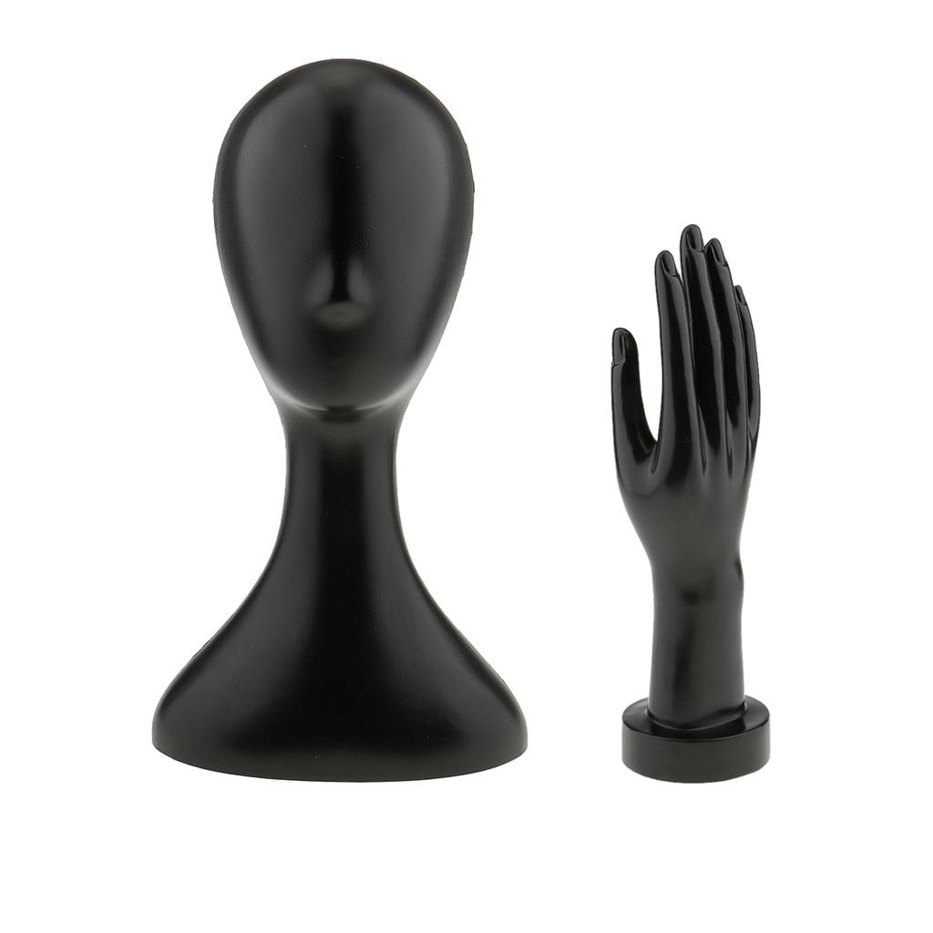 Set Of 2pcs Female Mannequin Manikin Head + Right Hand DISPLAY HOLDER MODEL