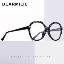 ¡Novedad de 2020! Gafas azules DEARMILIU para mujer, marco redondo, gafas planas clásicas para leer, gafas de ordenador, gafas