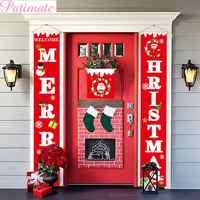 Etiqueta de puerta de Navidad personalizada, cartel de puerta de pórtico, decoración de Navidad para el hogar, colgante de Navidad, adornos de Feliz Navidad, 2019 Navidad