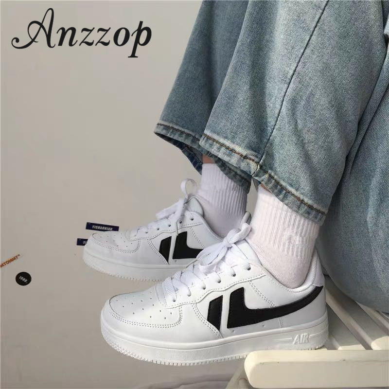 2019 Spring New Small White Shoes Female Trend Ulzzang Wild Flat Bottom Sports British Wind Student Breathable Shoes Ins Hot Hot