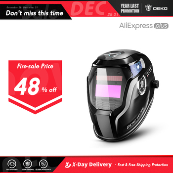 DEKO Skull Solar Auto Darkening Adjustable Range 4/9-13 MIG MMA Electric Welding Mask Helmet Lens for Machine - discount item  45% OFF Welding & Soldering Supplies