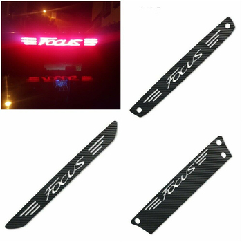 Car Rear High Brake Light Decal Sticker Dedicated Carbon Fiber Logo Sticker For Ford Focus MK2 MK3 2005-2018 Car Accessories image