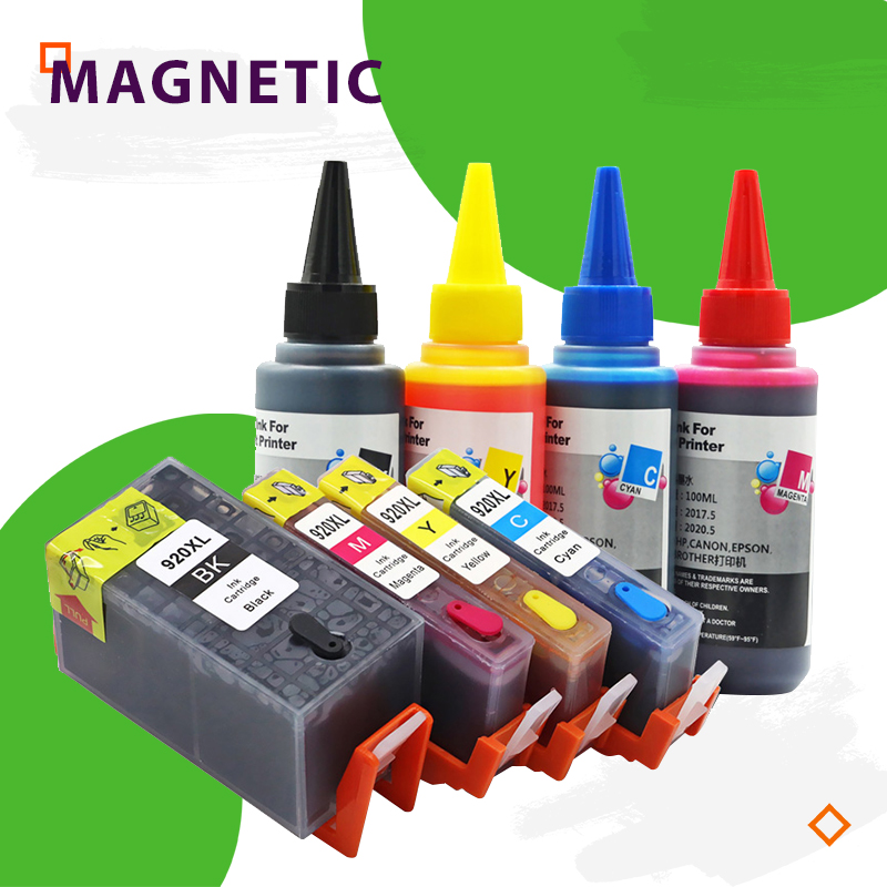 For <font><b>HP</b></font> 920 full ink refillable Compatible for For <font><b>HP</b></font> OfficeJet 7500A 7000 6000W 6500A 6000 <font><b>6500</b></font> <font><b>Printer</b></font> With Chip image
