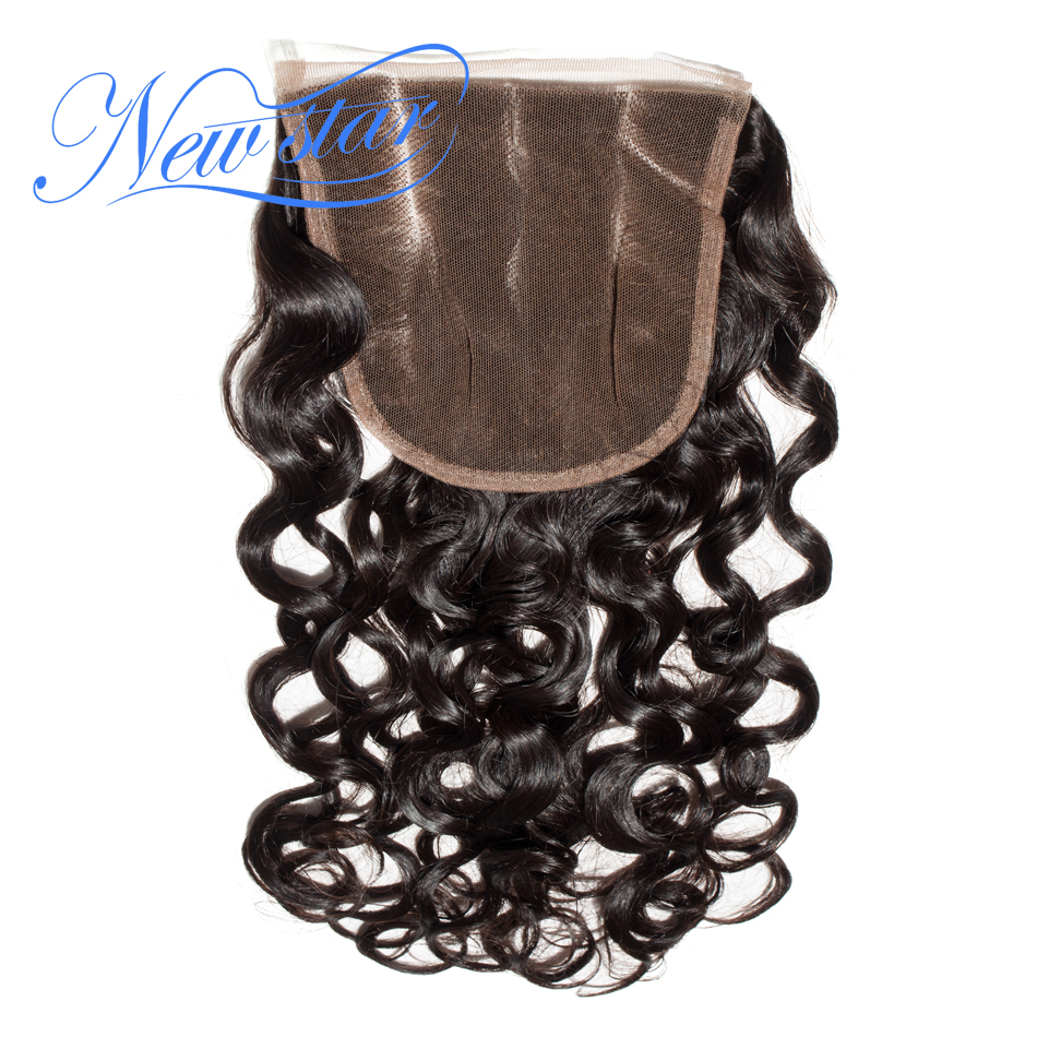 Closures Virgin-Hair Natural-Wave 3-Part Lace Swiss 100%Human-Hair Brazilian New 5x5