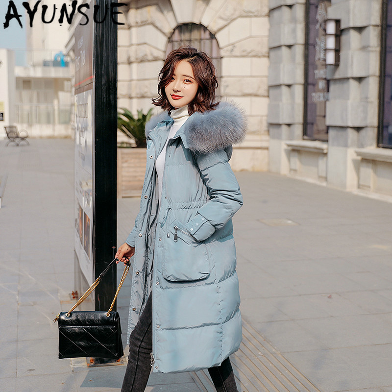 Women Jacket 90% White Duck Down Coat Winter Coat Women Big Fur Collar Down Jacket Korean Puffer Jacket Nub888 YY1376