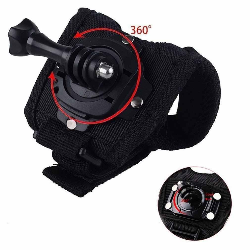 360 درجة الدورية المعصم اليد حزام الفرقة ترايبود جبل Holde ل GoPro بطل 4/3 +/3/2 كاميرا قبضة محول حالة الفرقة ل الذهاب برو