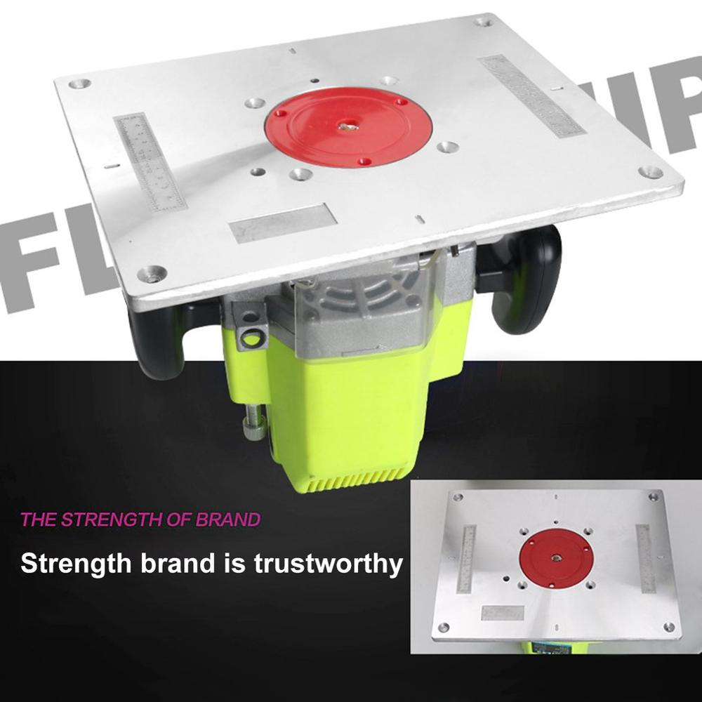 Multi-functional Aluminum Alloy Router Table Insert Plate Trimmer Engraving Machine Woodworking Bench Router Plate