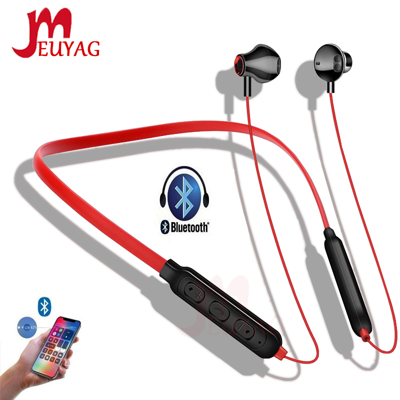 MEUYAG Wireless Bluetooth Earphone Stereo Noise Cancelling Sports Headset With Microphone Gaming Ear-hook Earphones For IPhone