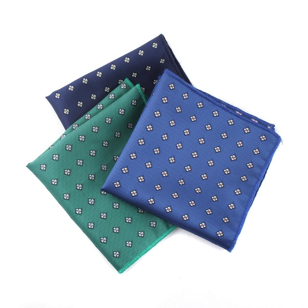 Men's Pocket Towel Europe And The United States Diamond Lattice Small Flower Men's Dress Office Professional Square Handkerchief