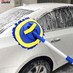 Image 1 - Escova de lavagem de carro telescópica alça longa limpeza mop escova de limpeza de carro chenille vassoura acessórios automóveis