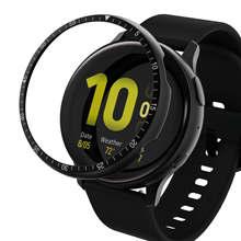De aleación de anillo de bisel para Samsung Galaxy ver activo 2 44mm 40mm reloj Dial adhesivo Anti rasguño de protección de metal