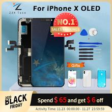 Wyświetlacz dotykowy OLED 3D AAA+++ do iPhone X bez martwych pikseli wymienny ekran LCD z upominkiem tanie tanio CN (pochodzenie) Pojemnościowy ekran 2560x1440 3 V-Screen LCD i ekran dotykowy Digitizer Apple iphone iphone xs IPHONE XR