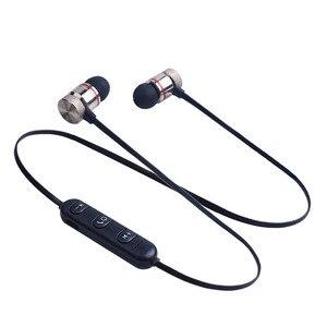 Image 1 - מגנטי Bluetooth אוזניות ספורט ריצה אלחוטי Neckband אוזניות אוזניות עם מיקרופון סטריאו מוסיקה עבור טלפונים חכמים