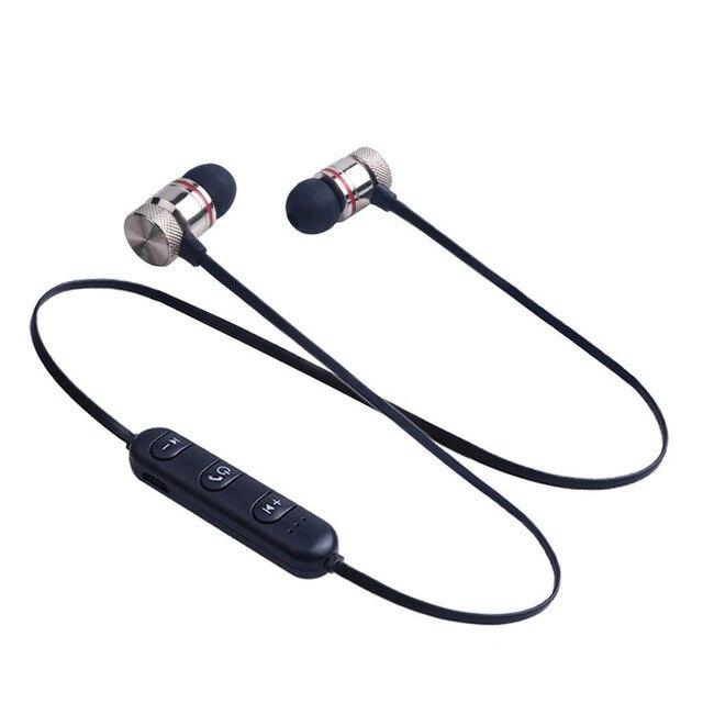 מגנטי Bluetooth אוזניות ספורט ריצה אלחוטי Neckband אוזניות אוזניות עם מיקרופון סטריאו מוסיקה עבור טלפונים חכמים