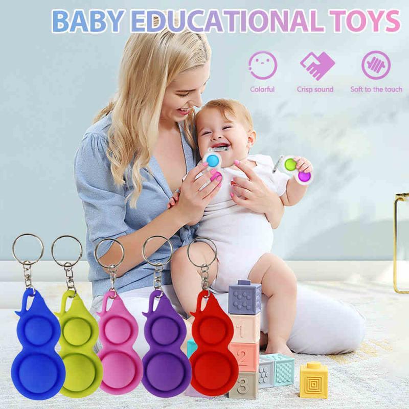 Fidget-Sensory-Toys Keychain Dimple-Toys It Fidget Gifts Anti-Stress-Pop Push Bubble img5